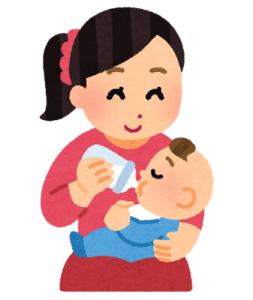 赤ちゃん授乳 ミルク ほにゅうびん