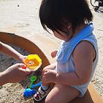 砂遊び 1歳