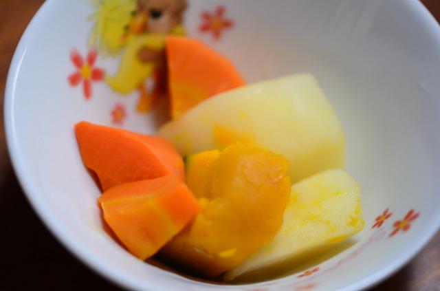 わんまいる4食目 副菜1 洋風温野菜(じゃが芋・人参・かぼちゃ)
