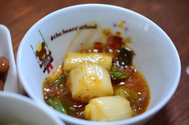 わんまいる5食目 副菜1 青梗菜(チンゲンサイ)と長ねぎの麻婆風